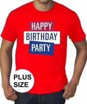 Toppers grote maten rood toppers happy birthday party officieel t-shirt