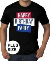 Toppers grote maten toppers happy birthday party heren officieel t-shirt 10137570