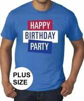 Toppers grote maten toppers happy birthday party heren officieel t-shirt