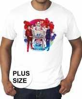 Toppers grote maten wit toppers concert officieel heren t-shirt