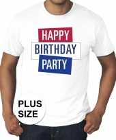 Toppers grote maten wit toppers happy birthday party officieel t-shirt
