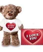 Valentijn valentijnskaart knuffelbeer ik vind je leuk t-shirt