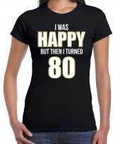 Verjaardag cadeau jaar happy zwart dames t-shirt 10302494