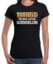 Verjaardag cadeau jaar tachtig goddelijk zwart dames t-shirt