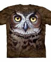 Vogel uil volwassenen t-shirt