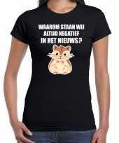 Waarom negatief nieuws hamsteren zwart dames t-shirt