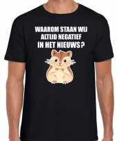 Waarom negatief nieuws hamsteren zwart heren t-shirt