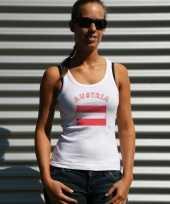 Witte dames tanktop oostenrijk t-shirt