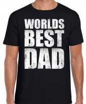 Worlds best dad cadeau zwart heren t shirt