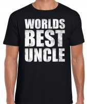 Worlds best uncle oom cadeau zwart heren t-shirt