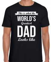 Worlds greatest dad cadeau zwart heren t shirt