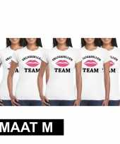 X vrijgezellenfeest team wit dames maat m t-shirt