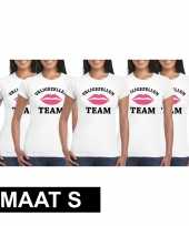 X vrijgezellenfeest team wit dames maat s t-shirt