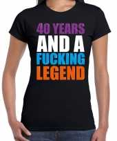 Year legend jaar legende cadeau zwart dames t-shirt 10197473