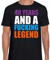 Year legend jaar legende cadeau zwart heren t-shirt 10198291