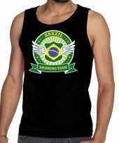 Zwart brazil drinking team tanktop mouwloos heren t-shirt