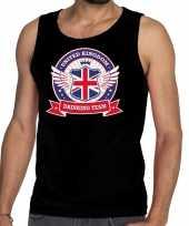 Zwart engeland drinking team tanktop mouwloos heren t-shirt