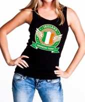 Zwart ireland drinking team tanktop mouwloos dames t-shirt