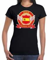 Zwart spain drinking team dames t-shirt