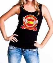 Zwart spain drinking team tanktop mouwloos dames t-shirt