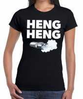 Zwarte cross heng heng festival zwart dames t-shirt