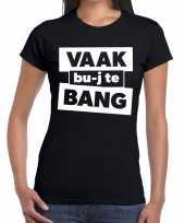 Zwarte cross vaak bujte bang festival zwart dames t-shirt