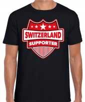 Zwitserland switzerland schild supporter zwart heren t shirt